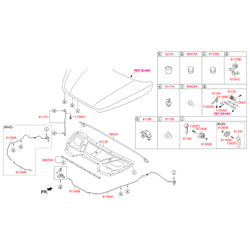 Рукоятка открывания капота (Hyundai-KIA) 811812B9009P