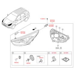 Фара передняя правая в сборе (Hyundai-KIA) 921022Y620