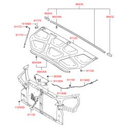 Защита тросика замка капота (Hyundai-KIA) 811952E000