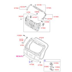 Петля замка багажной двери (Hyundai-KIA) 812102S000