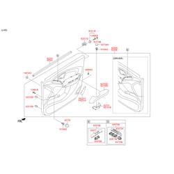 Подлокотник панели двери (Hyundai-KIA) 827202Y0039P