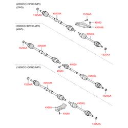 Ремкомплект привода колеса (Hyundai-KIA) 495952Y100