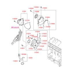 Масляный поддон двигателя (Hyundai-KIA) 2151027003