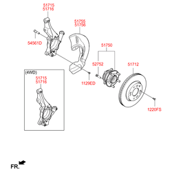 Поворотный кулак подвески (Hyundai-KIA) 51715D7100