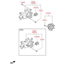 Поворотный кулак подвески (Hyundai-KIA) 52710D7000