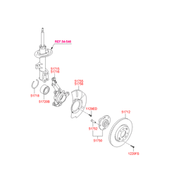 Поворотный кулак подвески (Hyundai-KIA) 517152Y500