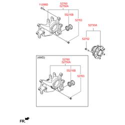 Поворотный кулак подвески (Hyundai-KIA) 52710D7100