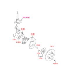 Поворотный кулак подвески (Hyundai-KIA) 517162Y500
