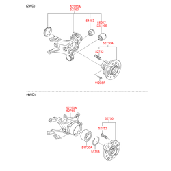 Поворотный кулак подвески (Hyundai-KIA) 527202Y800