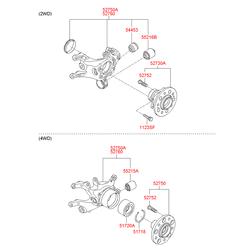 Поворотный кулак подвески (Hyundai-KIA) 527102S100