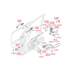 Ручка двери пластмассовая (Hyundai-KIA) 826502E000