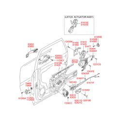 Ручка двери пластмассовая (Hyundai-KIA) 836502E000