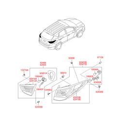 Фара задняя левая в сборе (Hyundai-KIA) 924012Y000