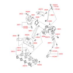 Турбокомпрессор одноступенчатый производительность 0.26 М3/СЕК (Hyundai-KIA) 2823127400
