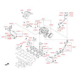 Турбокомпрессор одноступенчатый производительность 0.26 М3/СЕК (Hyundai-KIA) 282312F001