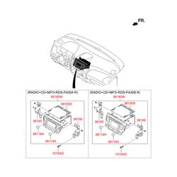 Автомагнитола в сборе (Hyundai-KIA) 961702Y600TJP