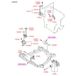 Опора двигателя передняя (Hyundai-KIA) 219102E000