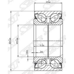 Подшипник передней ступицы (Sat) ST517203A101