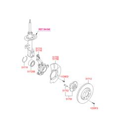Цапфа поворотного кулака (Hyundai-KIA) 517163U000