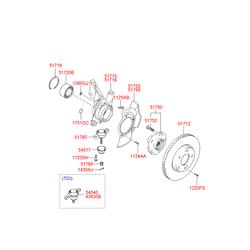 Цапфа поворотного кулака (Hyundai-KIA) 517162E100