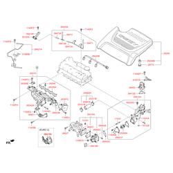 Шланг системы охлаждения (Hyundai-KIA) 256912F000