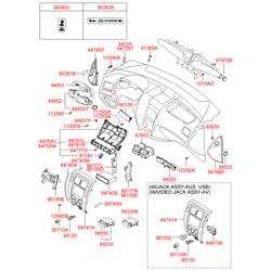 Кронштейн автомагнитолы (Hyundai-KIA) 847482E100