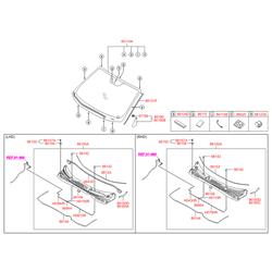 Панель воздухозаборника (Hyundai-KIA) 861502Y000
