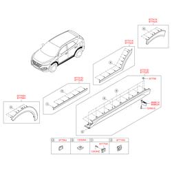 Фиксатор молдинга крыши (Hyundai-KIA) 877561F000