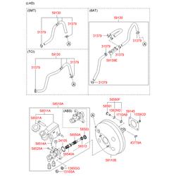 Шланг тормозной системы (Hyundai-KIA) 591304T300