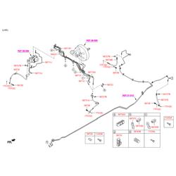 Шланг тормозной системы (Hyundai-KIA) 587372S100