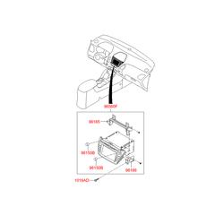 Автомагнитола, стереофоническая, с CD-проигрывателем (Hyundai-KIA) 965602Y500TAN