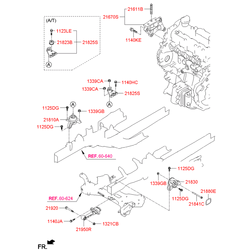 Опорный узел двигателя (Hyundai-KIA) 219502S100