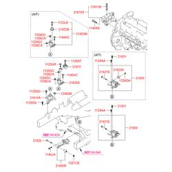 Опорный узел двигателя (Hyundai-KIA) 218102S200