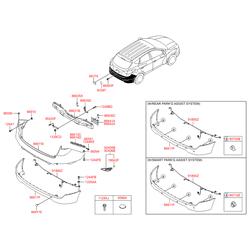 Панель заднего бампера (Hyundai-KIA) 866122Y000