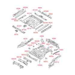 Поперечина панели пола (Hyundai-KIA) 659102E010