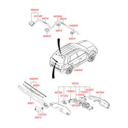 Щетка стеклоочистителя (Hyundai-KIA) 988252E000
