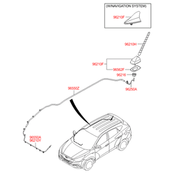 Антенна автомобильная (Hyundai-KIA) 962012S000