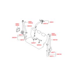 Ремень безопасности (Hyundai-KIA) 898202E001LM