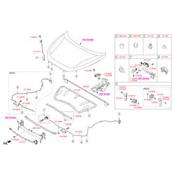 Фиксатор замка капота (Hyundai-KIA) 81140D3000