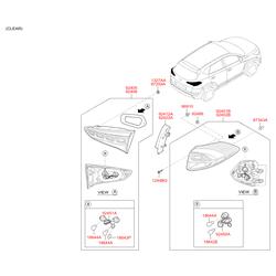 Фонарь левый наружний (Hyundai-KIA) 92401D7000