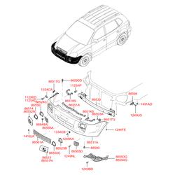 Накладка противотуманной фары переднего бампера правая (Hyundai-KIA) 865582E000