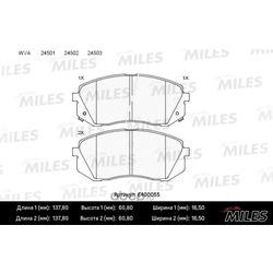 Колодки тормозные передние (Miles) E400055