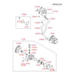 Насос гидроусилителя (Hyundai-KIA) 571002E000