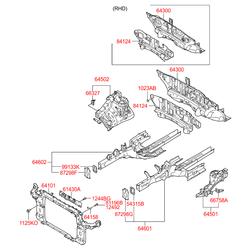 Панель колесной арки (Hyundai-KIA) 645022Y000
