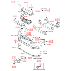 Противотуманная фара (Hyundai-KIA) 922022Y000