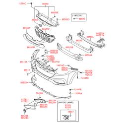 Фара противотуманная (Hyundai-KIA) 922012Y000
