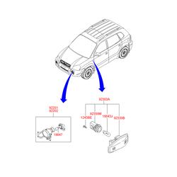 Фара противотуманная (Hyundai-KIA) 922012E000