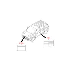 Наклейка с технической информацией на бумажной основе (Hyundai-KIA) 976992W000