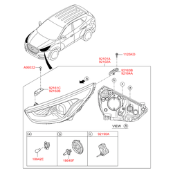 Лампочка фары ксеноновая (12В, 55ВТ), HIR2 (PX22d) (Hyundai-KIA) 1864755002L