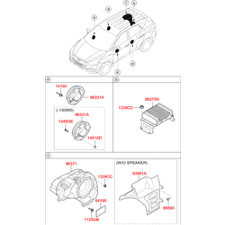 Динамик двери, 40вт (Hyundai-KIA) 963802S000